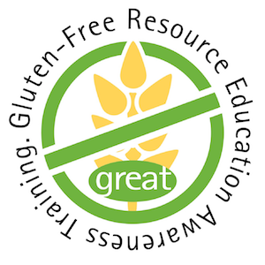 Gluten-Free Resource Education Awareness Training Great Scools Badge
